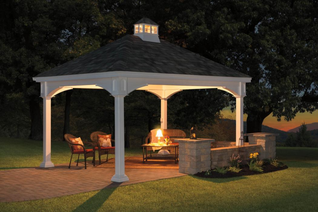 Manor Vinyl Pavilion with Cathedral Roof-5