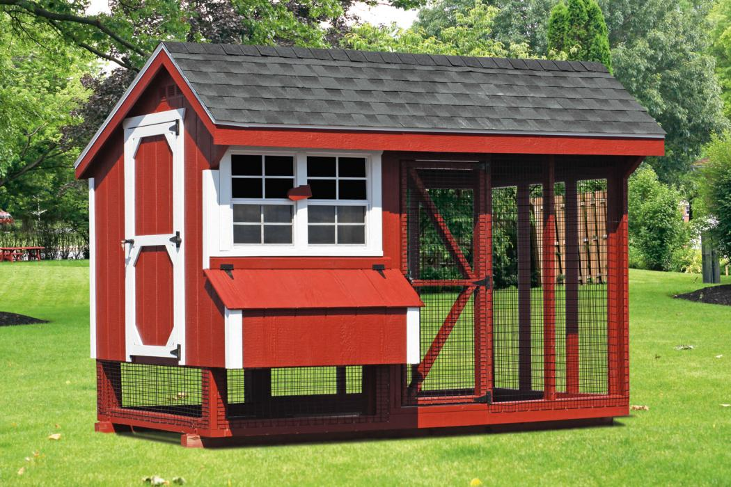 6 X10 Combo Chicken Coop And Run Q610c Lancaster