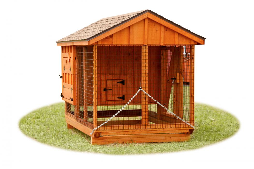 5 X7 Combo Chicken Coop Amp Run A57c Lancaster County Barns