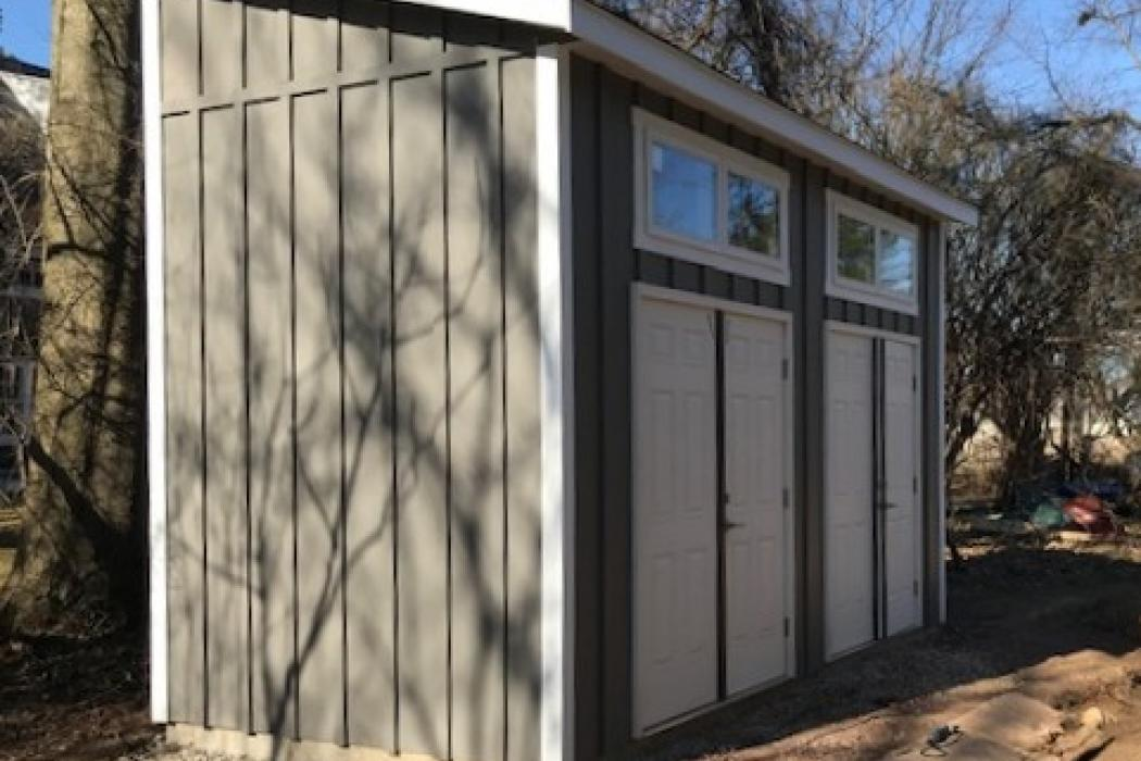 6298 custom lean to (2) -with hardi plank siding